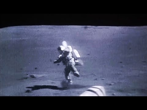 Astronauts falling on the Moon, NASA Apollo Mission Landed on the Lunar Surface_Best spacecraft videos ever