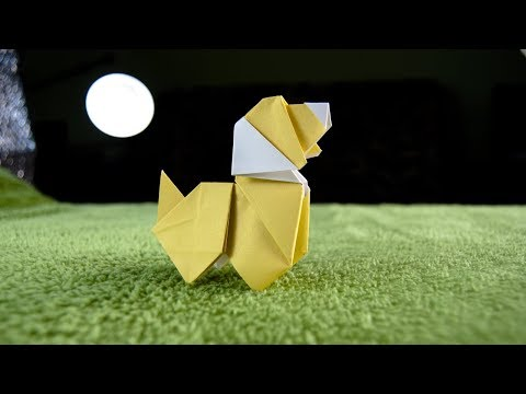 How To Make An Origami DOG |  Paper Animals | DIY