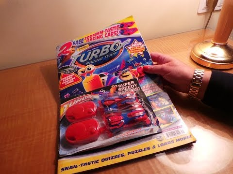 Dreamworks NEW ANIMATION FILM TURBO RACING TEAM OFFICIAL MAGAZINE WITH TOY ITS A REVIEW