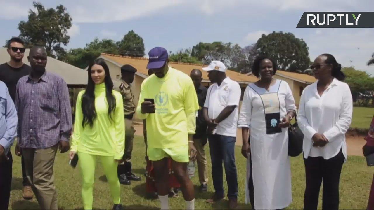 Ο Κάνιε Γουέστ και η Κιμ Καρντάσιαν στην Ουγκάντα