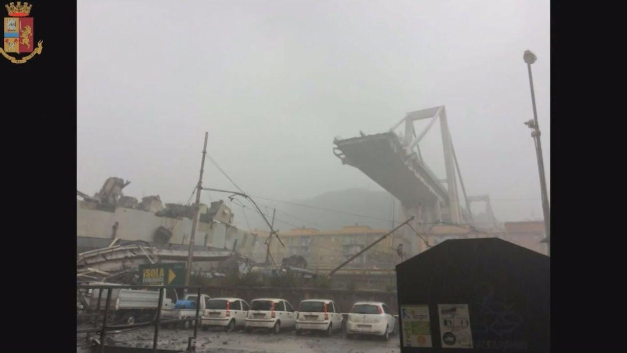 Δεκάδες νεκροί από την κατάρρευση γέφυρας αυτοκινητοδρόμου στη Γένοβα