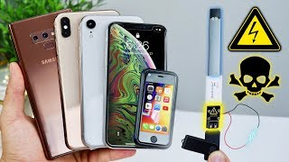 USB Killer vs iPhone XS Max/XR Fake, Note 9 & Juul! Instant Death?