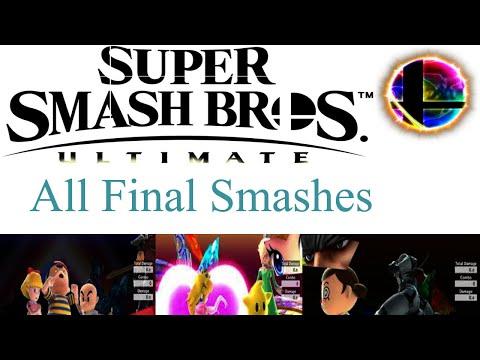 All Final Smashes - Super Smash Bros. Ultimate (Updated Final Smash Video in Description)