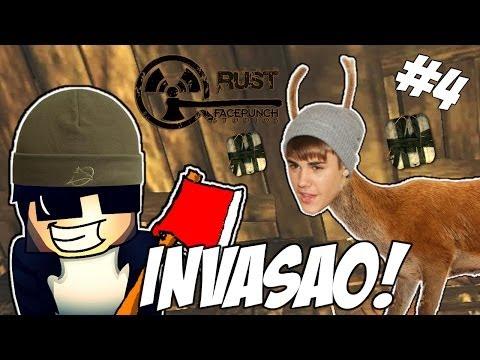 INVASÃO À CASA DO JUSTIN! - Rust #4