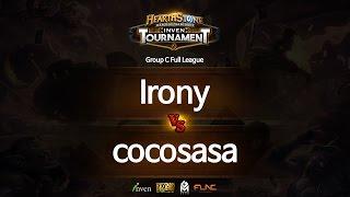 하스스톤 인벤 토너먼트 3회 5라운드 Irony VS cocosasa