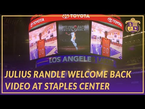 Video: Lakers Nation: Welcome Back Tribute Video for Julius Randle at Staples Center