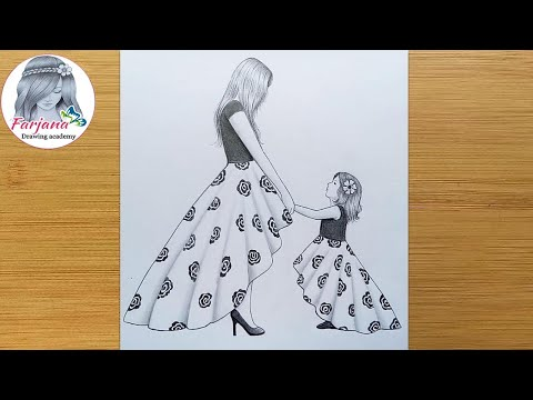 Play this video Mother39s Day Drawing with Pencil sketch for beginners  Anneler gn izim   бгх йъЯ ЧфУх