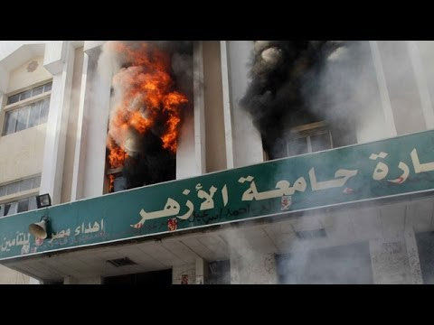 Egypt: Al-Azhar University buildings set ablaze during stude