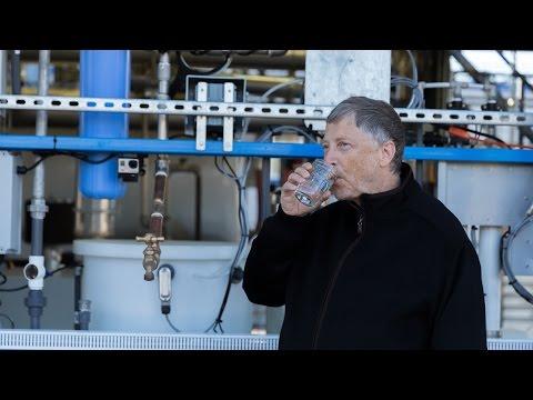 bill gates beve acqua ricavata dagli escrementi umani!