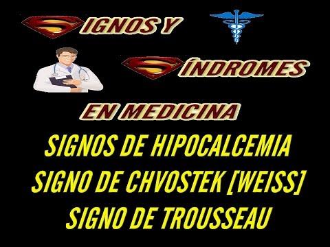 Hipocalcemia [Signo de Chvostek y Trousseau]