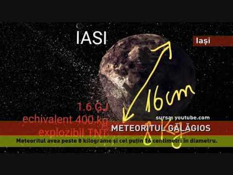 Un meteorit de peste opt kilograme, sursa bubuiturii de la Iași