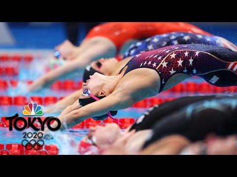 USA's Regan Smith sets new Olympic record in 100m backstroke semifinal | Tokyo Olympics | NBC Sports