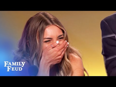 OMG! Kyle makes Steve Harvey toss his card! | Family Feud