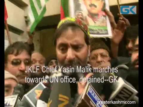 JKLF Chief Yasin Malik marches towards UN office, detained