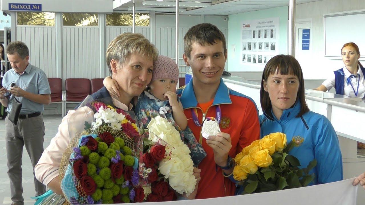 В Удмуртии встретили серебряного призера чемпионата мира Сергея Широбокова