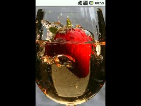 Video of Strawberry in a glass