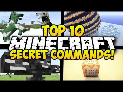 TOP 10 MINECRAFT SECRET COMMAND BLOCK COMMANDS FOR MINECRAFT 1.8! (Minecraft Secret Commands)