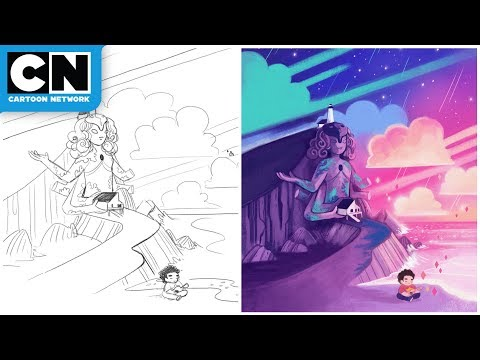 Crystal Temple Speed Drawing  Steven Universe  Cartoon Network