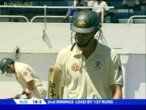 5/18 Australia's Top Order Obliterated By West Indies 2008