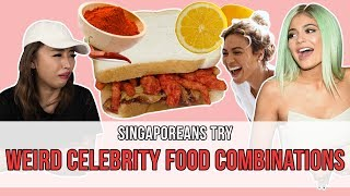 Video Singaporeans Try: Weird Celebrity Food Combinations | EP 108 MP3, 3GP, MP4, WEBM, AVI, FLV Oktober 2018