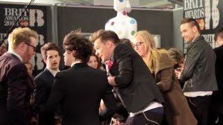 One Direction steal their own Brit Award at the 2013 Winner's Conference