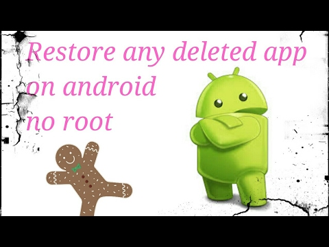 How  to restore any deleted app without internet