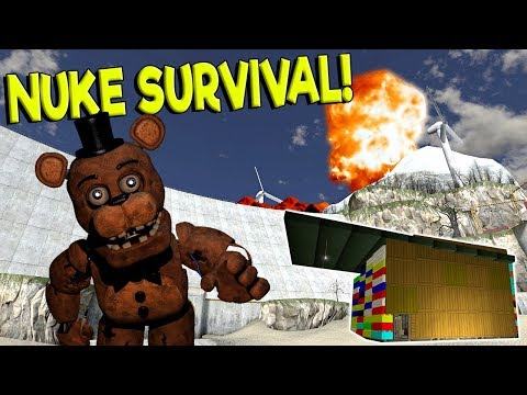 Garrys Mod - NUKE SURVIVAL VS LEGO BASE CHALLENGE! - Garry's Mod Gameplay - Gmod Nuke Base Building