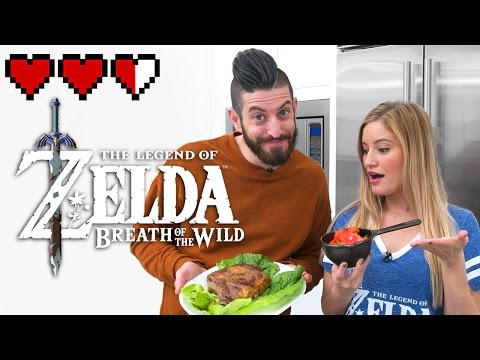 🍎 Cooking food from Zelda Breath of the Wild game! (видео)