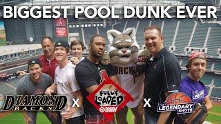 Biggest Pool Dunk EVER   Ft. Legendary Shots, Arizona Diamondbacks by Whistle Sports