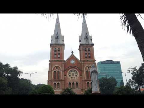 Bells ringing at Notre Dame Cathedral in Saigon at 16h30