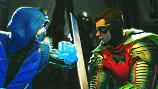 Injustice 2 Sub zero vs Robin All intros, clash quotes and supermoves from Injustice 2  Injustice 2 Playlist https://www.youtube.com/playlist?list=PLIHdjqWw8amLejxTrprTd5om6niDsWg4LSUBSCRIBE for daily Injustice 2 content!https://www.youtube.com/user/MaximumGuarded2