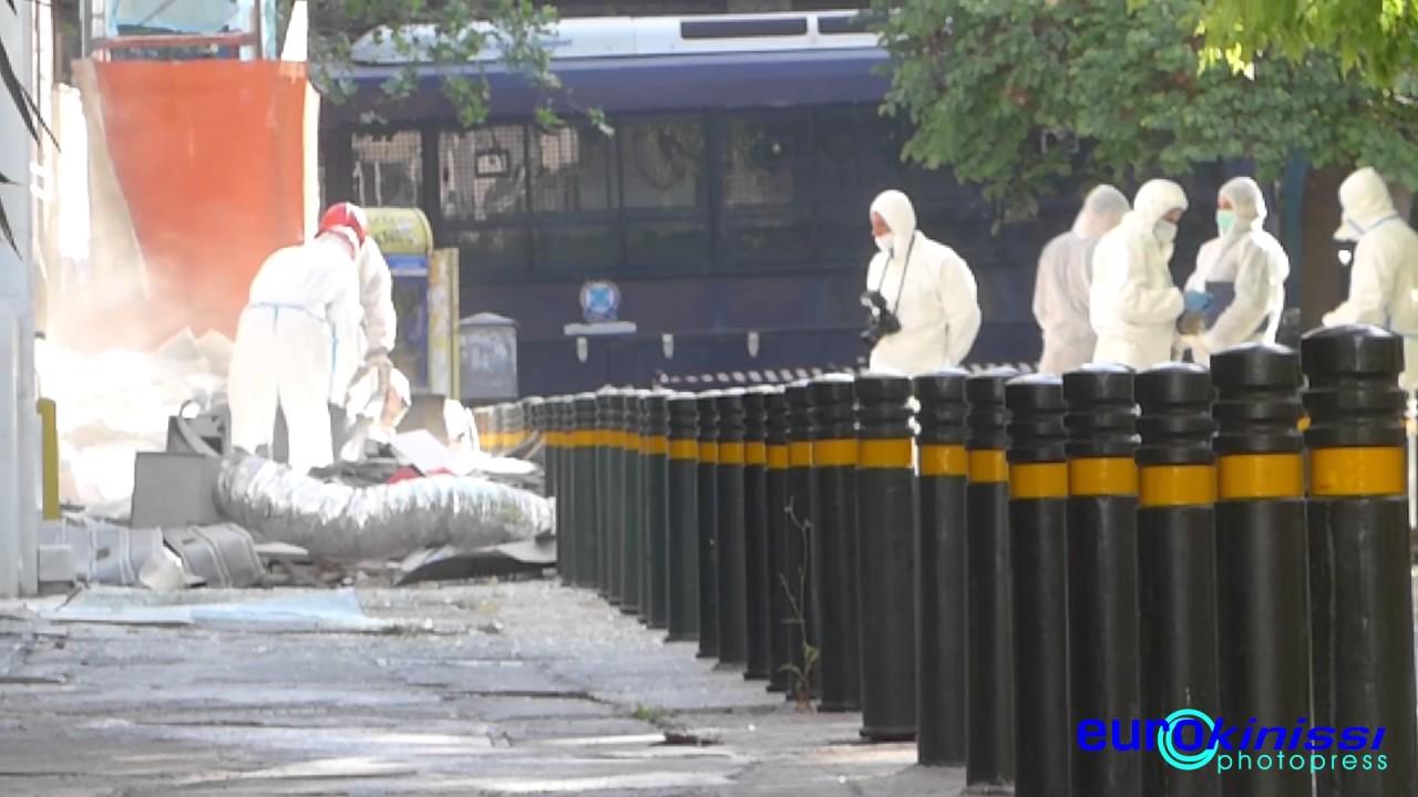 Εξερράγη μηχανισμός έξω από τράπεζα στο κέντρο της Αθήνας