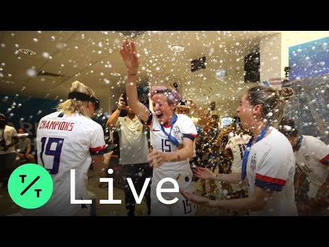 U.S. Women's Team Arrives Home After Winning World Cup