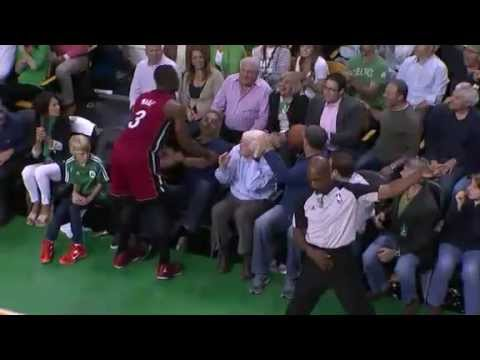 Fan Throws Ball at Dwyane Wade's Face