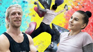 Thor shares a Secret and Sofia Crushes my boulders. (A great secret) by Eric Karlsson Bouldering