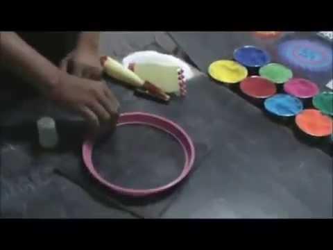 how to make Rangoli in 1 minute