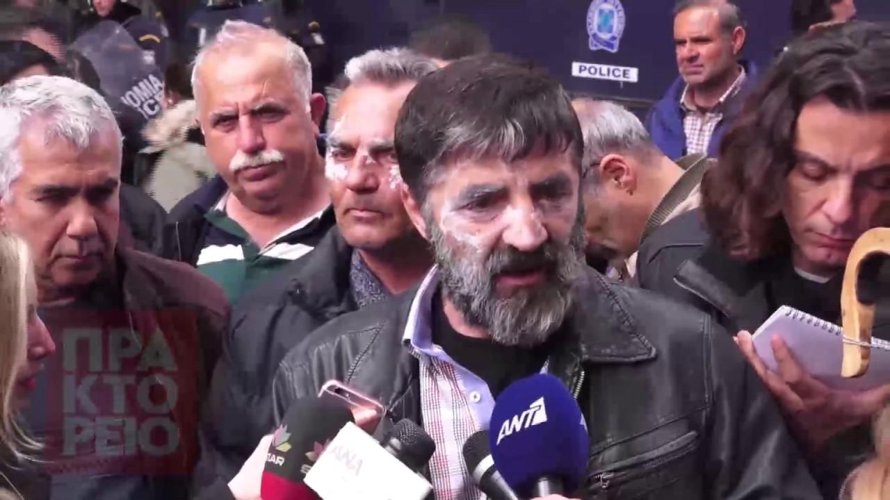 Δηλώσεις αγροτών Κρήτης στο συλλαλητήριο
