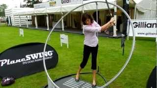 Lady Golfer experiences her optimum swing plane on PlaneSWING at the Brit Par 3 Championships