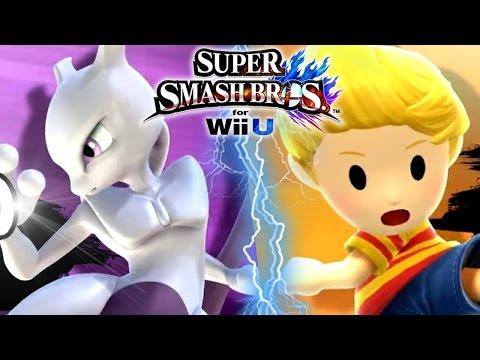 Super Smash Bros Wii U MEWTWO Trailer, LUCAS, New DLC & More
