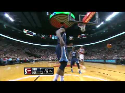 Rudy Gay's Monster Windmill Slam Off Trail Blazers Turnover