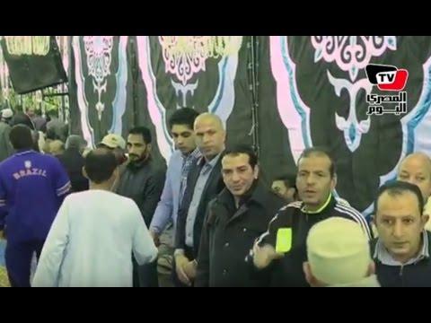 وائل جمعة يستقبل عزاء والد «أبو تريكة» بقرية «ناهيا»