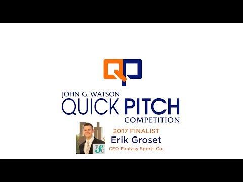 Quick Pitch 2017 Finalist - Erik Groset - Fantasy Sports Co