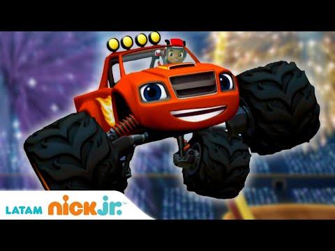 Blaze and the Monster Machines   Aprendiendo con Blaze - parte 2 🎓    Nick Jr.