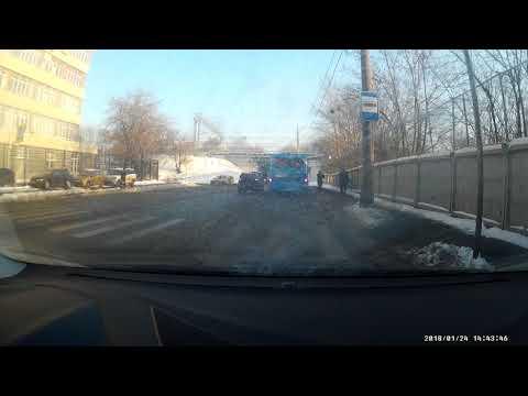 Авария с пешеходом в Москве
