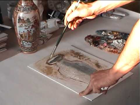 Как начать рисовать масляными
