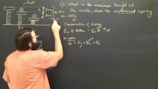 Physics Tutorial Lesson:  Elastic Energy Springs College High School Part 2