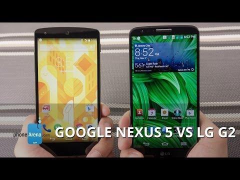 Google Nexus 5 vs LG G2