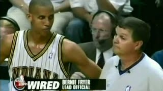 Find all NBA Referees Wired videos on http://nba-referees-wired.com/Hear how NBA referees, including Joey Crawford and Danny Crawford, communicate with NBA basketball players and NBA coaches.See Danny Crawford and Rick Carlisle, Steve Javie talking to Shaquille O'Neal, Bernie Fryer talking to Reggie Miller, and many others.