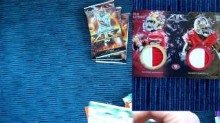 2014 topps fire football cards box break - HIT!!