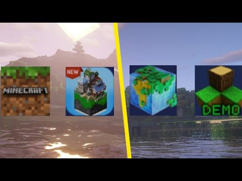 Minecraft PE vs Mastercraft vs WorldCraft vs SurvivalCraft